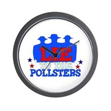 Lie To Pollsters Wall Clock