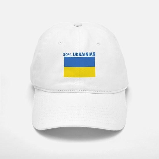 50 PERCENT UKRAINIAN Baseball Baseball Cap