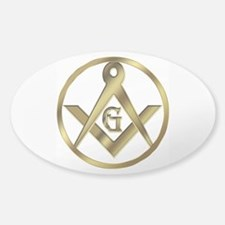 Masonic Vinyl Circle Oval Decal