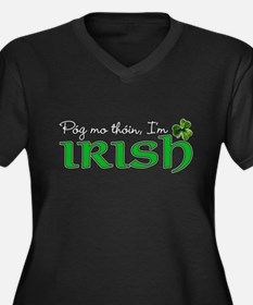 Pog mo thoin, I'm Irish Women's Plus Size V-Neck D