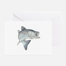 Lunker's Stripe Bass Greeting Cards (Pk of 10)