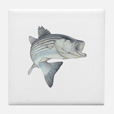 Lunker's Stripe Bass Tile Coaster