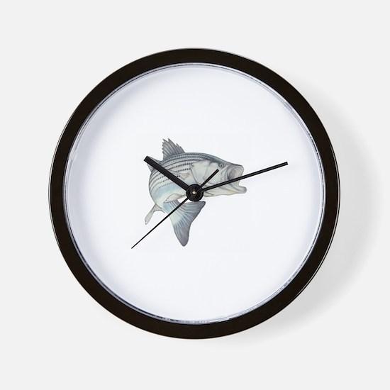 Lunker's Stripe Bass Wall Clock