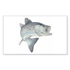 Lunker's Stripe Bass Rectangle Decal