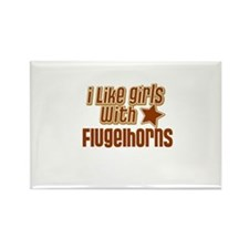 I Like Girls with Flugelhorns Rectangle Magnet