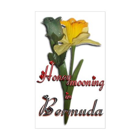 Honeymooning in Bermuda - Rectangle Sticker