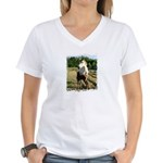 BEAUTIFUL HORSES Women's V-Neck T-Shirt
