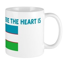 UZBEKISTAN IS WHERE THE HEART Mug