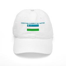 UZBEKISTAN IS WHERE IT ALL HA Baseball Cap