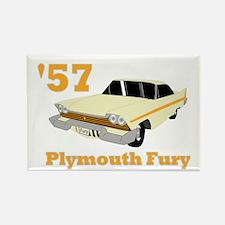 Chrysler Mopar '57 Plymouth F Rectangle Magnet
