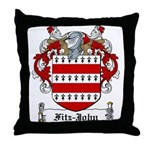 Fitz-John Family Crest Throw Pillow