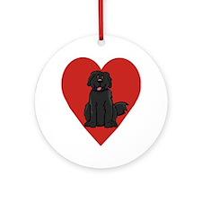 Love Newfie Ornament (Round)