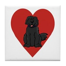 Love Newfie Tile Coaster