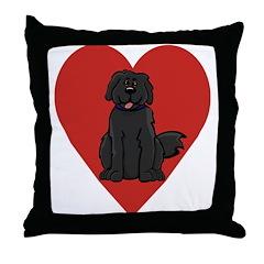 Love Newfie Throw Pillow