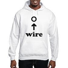 Wearing a Wire Jumper Hoody