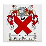 Fitz-Pearce Family Crest Tile Coaster