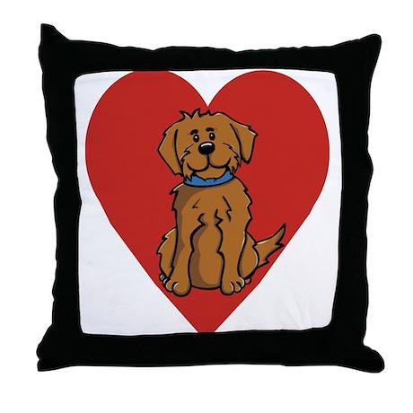 Love Mutt Throw Pillow