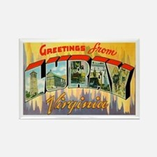 Luray Virginia Greetings Rectangle Magnet