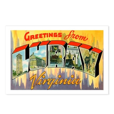 Luray Virginia Greetings Postcards (Package of 8)
