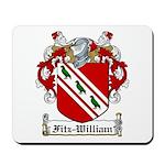 Fitz-William Family Crest Mousepad