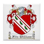 Fitz-William Family Crest Tile Coaster
