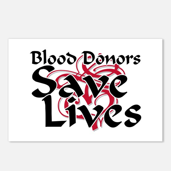 Blood Donors Save Lives Postcards (Package of 8)