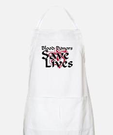Blood Donors Save Lives BBQ Apron