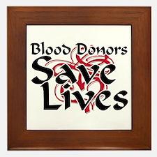 Blood Donors Save Lives Framed Tile