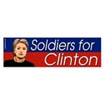 Soldiers for Clinton bumper sticker