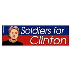 Soldiers for Clinton bumper sticker