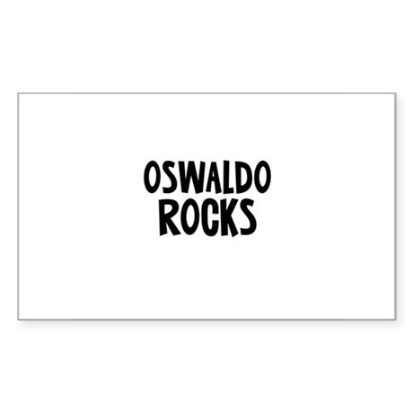 Oswaldo Rocks Rectangle Sticker