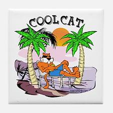 Cool Cat Tile Coaster