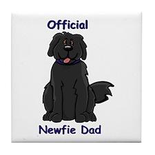 Newfie Dad Tile Coaster