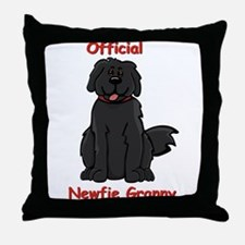 Newfie Granny Throw Pillow