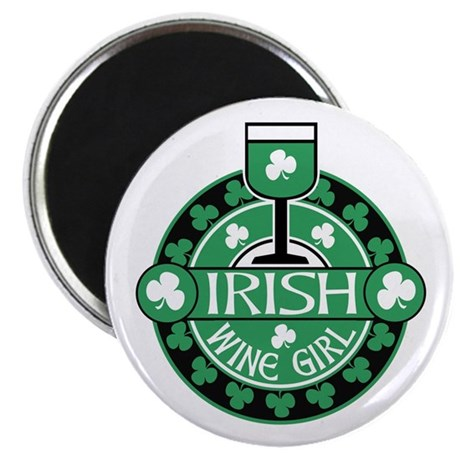 """Irish Wine Girl 2.25"""" Magnet (10 pack)"""
