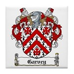 Garvey Family Crest Tile Coaster