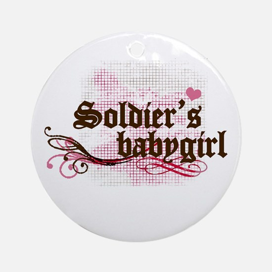 Soldier's Babygirl Ornament (Round)