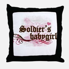 Soldier's Babygirl Throw Pillow