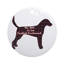BFF English Foxhound Ornament (Round)