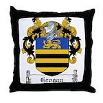 Grogan Family Crest Throw Pillow