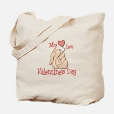 Baby's 1st Valentine's Day Tote Bag