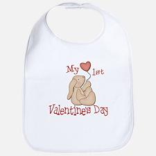 Baby's 1st Valentine's Day Bib