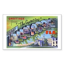 Tallahassee Florida Greetings Sticker (Rectangular