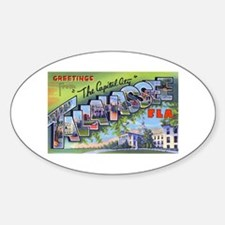Tallahassee Florida Greetings Oval Decal
