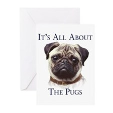 """Pug"" Greeting Cards (Pk of 10)"