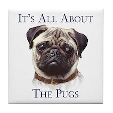 """""""Pug"""" Tile Coaster"""