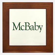 McBaby (Irish Baby) Framed Tile