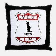 Sphynx On Guard Throw Pillow