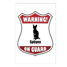 Sphynx On Guard Postcards (Package of 8)