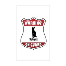Sphynx On Guard Rectangle Decal